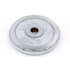 Блины (диски) 2,5кг хромированные d-30мм ТА-1451