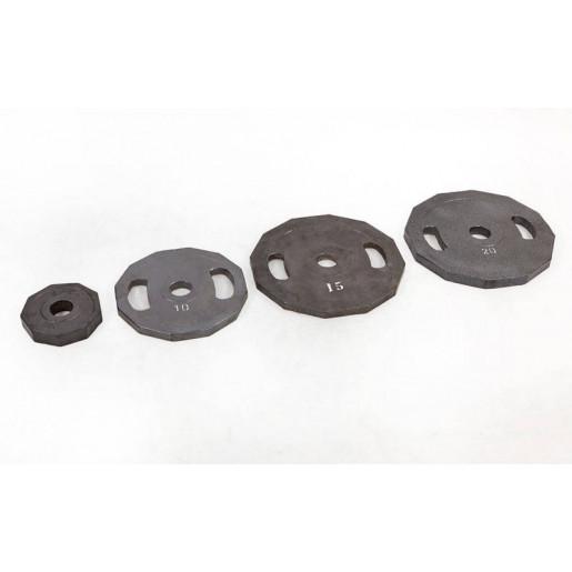 Блины (диски) стальные с хватом окрашенные d-52мм UR Newt NT-5221-20 20кг