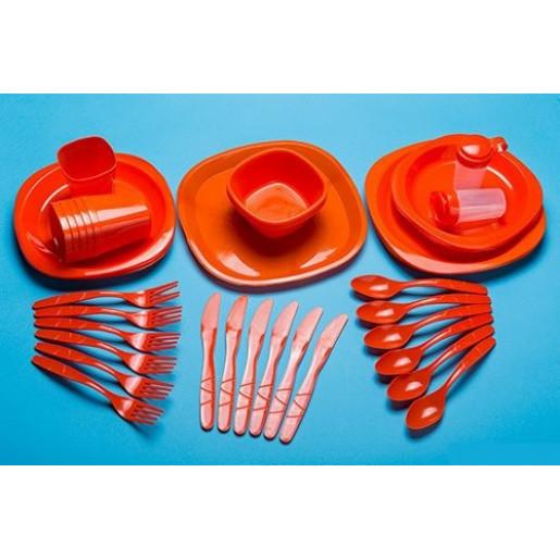 Набор туристической посуды GreenCamp, пластик, 54 предмета