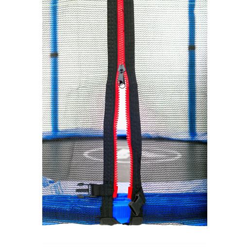 Батут Atleto в диаметре 140 см с защитной сеткой