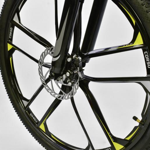 Велосипед 26* SPIDER Серый-жёлтый