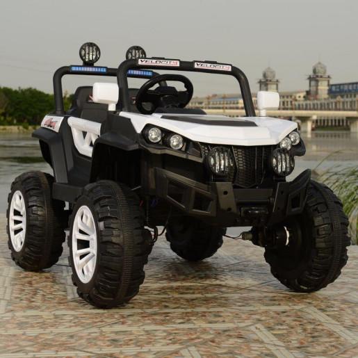 Эл-мобиль T-7840 EVA WHITE джип на Bluetooth 2.4G Р/У 12V7AH мотор 4*25W с MP3 122*76*72/1/
