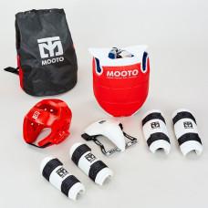 Набор экипировки для тхэквондо детский MTO BO-0509-R