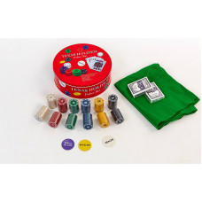 Покерный набор в круглой металлической коробке-240 фишек IG-6616