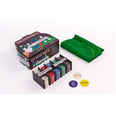 Покерный набор в металлической коробке-200 фишек IG-1103240
