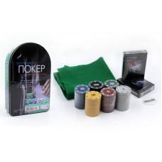 Покерный набор в металлической коробке-120 фишек IG-6612