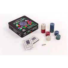 Покерный набор в металлической коробке-100 фишек IG-2033