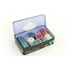 Фишки для покера в металлической коробке IG-1102110
