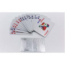 Игральные карты серебряные IG-4567-S SILVER 500 EURO