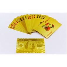 Игральные карты золотые IG-4566-G GOLD 100 DOLLAR