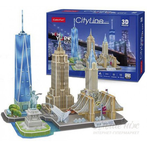 3D PUZZLE City Line New York City