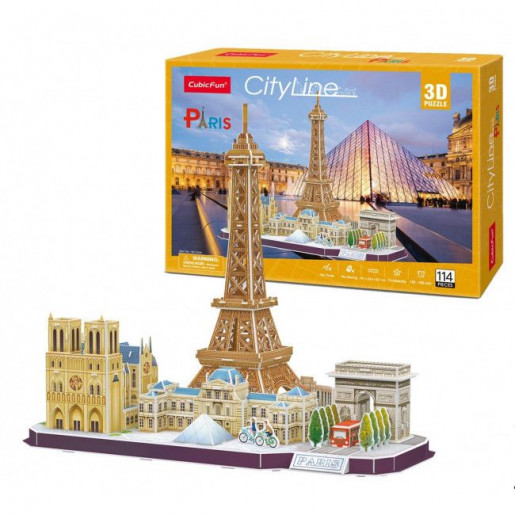 3D PUZZLE City Line Paris