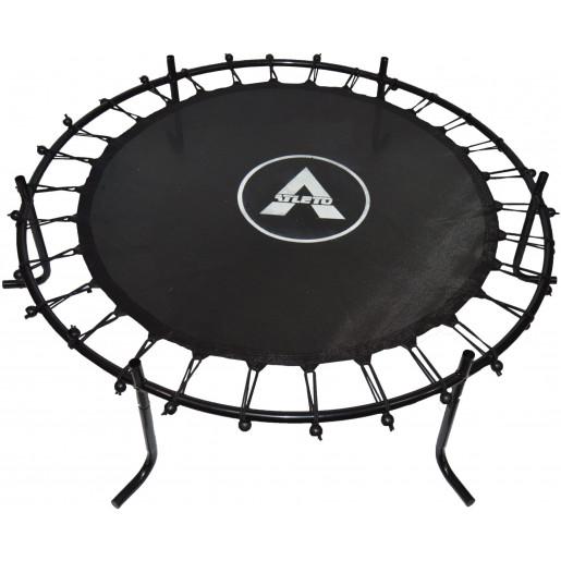 Батут Atleto в диаметре 140 см с защитной сеткой +