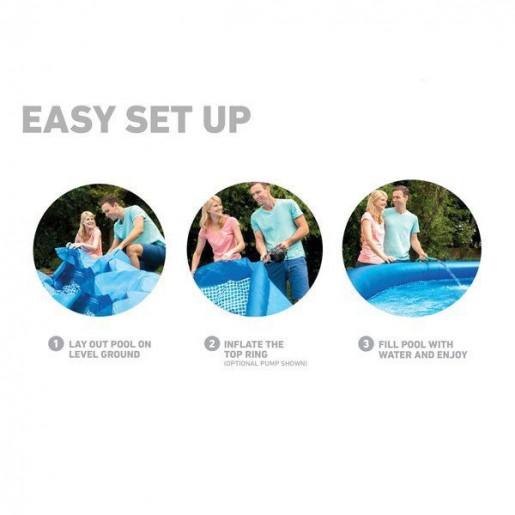 Бассейн EASY SET с фильтрующим насосом 457×84см, 9792Л