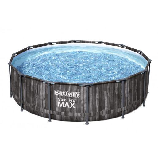 Каркасный бассейн Steel Pro Max 427х107см, 13030л, фил.-насос 3028л/ч, лестница, тент