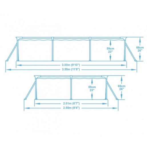 Бассейн Steel Pro 300x201x66см, 3300Л