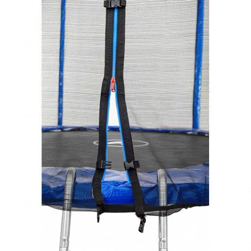 Батут Atleto в диаметре 183 см с двойными ногами и  защитной сеткой