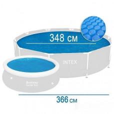 Солнечное покрывало для бассейна, d348cm