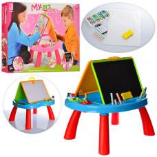 Мольберт  двухсторонний+игровой столик 8805-06