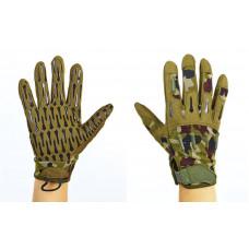 Перчатки тактические с закрытыми пальцами BLACKHAWK BC-4925-HG (р-р L-XL, камуфляж Woodland)