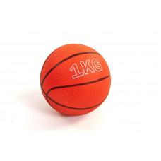 Мяч медицинский 1кг (медбол) SC-8407-1