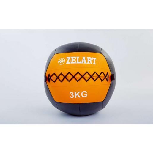 Мяч волбол 3кг для кросфита и фитнеса WALL BALL FI-5168-3