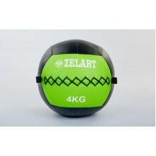 Мяч волбол 4кг для кросфита и фитнеса WALL BALL FI-5168-4