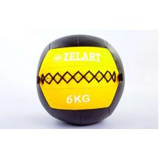 Мяч волбол 6кг для кросфита и фитнеса WALL BALL FI-5168-6