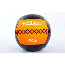 Мяч волбол 7кг для кросфита и фитнеса WALL BALL FI-5168-7