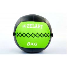 Мяч волбол 8кг для кросфита и фитнеса WALL BALL FI-5168-8
