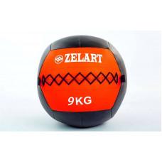 Мяч волбол 9кг для кросфита и фитнеса WALL BALL FI-5168-9