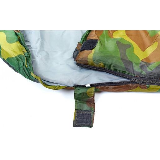 Спальный мешок одеяло с капюшоном камуфляж SY-066