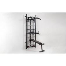Профессиональная система эспандеров со скамьей для пресса и спины Кросс-тренер Full L-6774