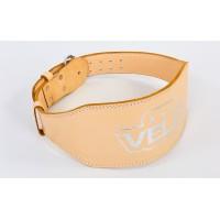 Пояс атлетический кожаный VELO VL-6624