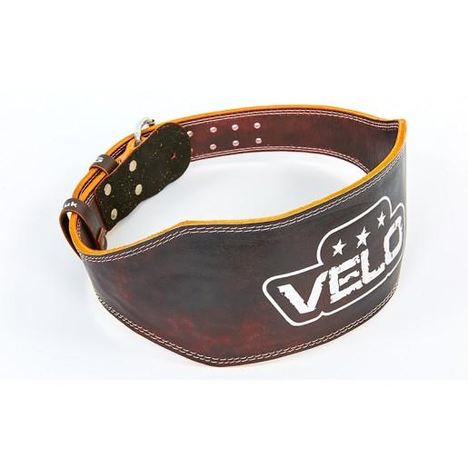 Пояс атлетический кожаный VELO VL-6627