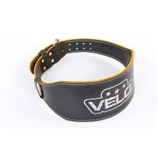 Пояс атлетический кожаный VELO VL-6628