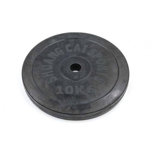 Блины (диски) 10 кг обрезиненные d-30мм ТА-1445