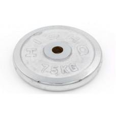 Блины (диски) 7,5кг хромированные d-30мм ТА-1453