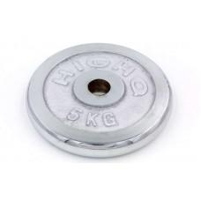 Блины (диски) 5кг хромированные d-30мм ТА-1452