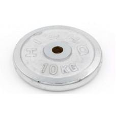 Блины (диски) 10кг хромированные d-30мм ТА-1454