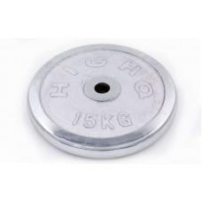 Блины (диски) 15кг хромированные d-30мм ТА-1455