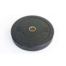 Бамперные диски 15кг для кроссфита Bumper Plates из структурной резины d-51мм RAGGY TA-5126-15