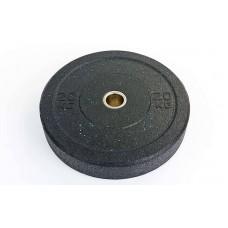 Бамперные диски 20кг для кроссфита Bumper Plates из структурной резины d-51мм RAGGY TA-5126-20