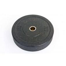 Бамперные диски 25кг для кроссфита Bumper Plates из структурной резины d-51мм RAGGY TA-5126-25