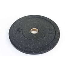 Бамперные диски 5кг для кроссфита Bumper Plates из структурной резины d-51мм RAGGY TA-5126-5