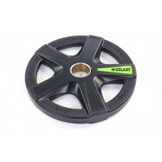 Блины (диски) 10 кг полиуретановые 5 отверстий с металлической втулкой d-51мм TA-5335- 10