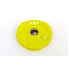 Блины (диски) 1,25 кг полиуретановые с хватом и металлической втулкой d-28мм TA-5336-28-1,25