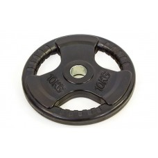 Блины (диски) 10 обрезиненные с тройным хватом и металлической втулкой d-52мм TA-8122-10